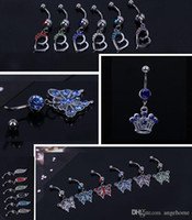 Wholesale 2015 Hot Sale Gem Navel Belly Rings Belly Button Rings Piercing Body Jewelry Gift Navel Ring Sexy Body Jewelry Piercings