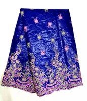 bazin riche - Cherry Lady Cotton Bazin Riche lace fabric Fashion Designs African Bazin Riche embreidery lace for Women Dress Roya Blue