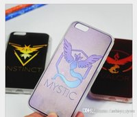 Wholesale Poke Go Team Mystic Valor Instinct Cases iPhone s plus hard Cell Phone back cover pokeball case quot quot