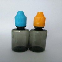 Papper étiquette gros noir Bouteille de cigarette électronique Bouteilles en plastique de licorne avec bouteilles de bouteille de preuve d'enfant