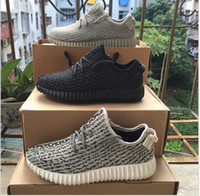 MEN SNEAKER - with Box cheap Sneakers Training New Kanye Milan West Boost Moonrock Oxford Tan Pirate Black Turtle dove Men Sports Shoes