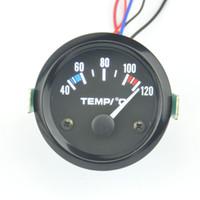 Wholesale 52mm Car Motorcycle Pointer Celsius White Light Water Temp Gauge Modified Auto Gauge Auto parts Delivery Sensor
