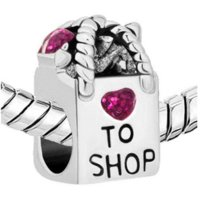 Wholesale New beads Shopping bag charm bracelet beads fit Pandora charm bracelet jewelry bag repair