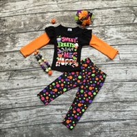 baby sweet treats - girls clothing baby girls Halloween outfits children sweet treats make me happy clothing girls fall sets with accessories