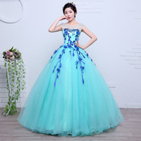 belle ice - Freeship flower leaf shoulder beading ice blue ball gown medieval dress Renaissance gown queen Victorian Belle Ball gown