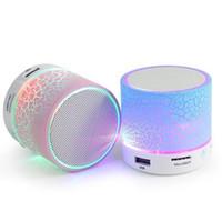 active flash player - New Stone Pattern Flashlight Wireless Bluetooth Speakers Glare LED Flash Light Mini Wireless Active speaker support TF card FM radio A9