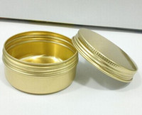 acid aluminum - 50g GOLD Aluminum packaging bottle use for cream jars cosmetics packing high quality