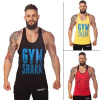 army green undershirt - 2015 gym vest bodybuilding clothing and fitness men tank tops golds gym brand high quality cotton undershirt gym shark