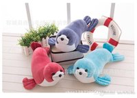 plush sea animals - 2016 Good Plush Doll Gifts For Baby Colorful Cute Sea Dog Toys