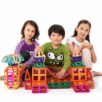 Wholesale 62Pcs Magnetic Building Blocks Models Building Toy Magnet Plastic Technic Bricks Learning Educational Toys For Children