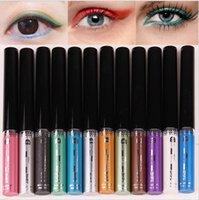 Wholesale 9 colors Flower Color Music Eyeliner Waterproof Matte Shadow Liquid Eyeliner Halo