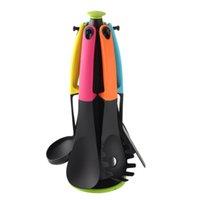 Wholesale Set Kitchen Gadget Nylon Slotted Spatula Spoon Cooking Cookware Utensils kitchen accessories Length cm E