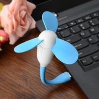 Wholesale YGH Fashionable Portable Bamboo Dragonfly Mini USB Fan White Blue