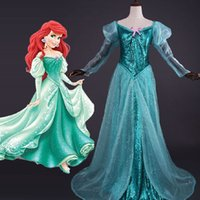 ariel deluxe - Princess Ariel Dress Sexy Adult Mermaid Costume Halloween Costumes for Women Cosplay Deluxe Party Ball Gowns Plus Size Custom