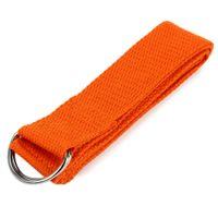 Wholesale Colors cm Adjustable Cotton Yoga Belts Stretch Strap D Ring Belt Waist Leg Fitness Exercise Gym Rope for Men Women