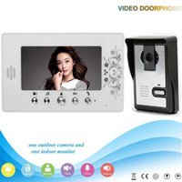 Wholesale Free DHL Shipping V70A L V1 Manufacturer Inch color doorphone video door phone for Apartments video intercom