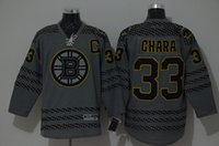 Cheap Boston Bruins Cross Check Premier Fashion Jersey - Charcoal Mens Jerseys #33 Zdeno Ghara Gray Ice Hockey Jersey 3770