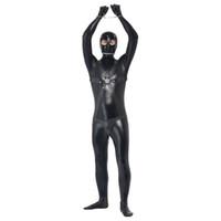 adult men halloween costume - Convict Prisoner Men Catsuit Black Sexy Costume For Men Halloween Adult Cosplay