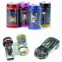 Wholesale Coke Can Mini RC Radio Remote Control Micro Vehicle Boy Racing Car Toy Gift