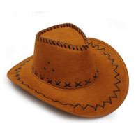 adult golf costume - Halloween Style Western Cowboy Hat For Adult Men Women Party Costumes Cap Hot Sale Wide Brim Hats