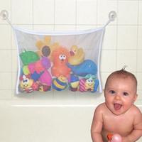 bathing bath clothing - Kids Bath Tub Toy Bag Hanging Organizer Storage Bag Baby Bathing Accessories L00039 CAD