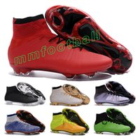Wholesale Top quality mercurial superfly fg men soccer shoes cheapest mercurial superfly cleats soccer boots indoor outdoor sports football shoes