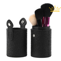 artist resins - Travel Black Leather Cosmetic Brush Pen Holder Storage Empty Holder Makeup Artist Bag Match Your Own Brushes Make Up Tools