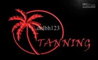 LB029-TM OUVERT Bronzage Sun Care Affiche Neon Light Signs. La publicité. Panneau DEL