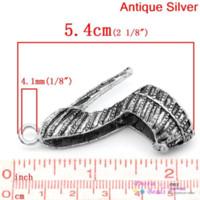 antique shoe horn - Charm Pendants High heel Shoe Antique Silver Can Hold ss16 Rhinestone x4 cm B26708 shoes carters shoe lamp