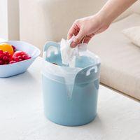 Wholesale Mini lidless container dustbin lid desktops office desktop plastic wastebasket trash storage organization Green blue pink free delivery