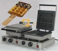 Wholesale 12pcs Commercial Use Non stick v v Electric Dual Belgian Waffle Stick Baker Machine Maker Iron