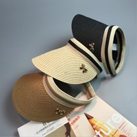Wholesale 2016 bow empty top hat sun hat cap hat men and women summer beach vacation star with a hat