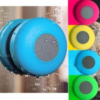 Wholesale Subwoofer Shower Waterproof Wireless Altavoz enceinte Bluetooth Speaker Car Handsfree Receiver Call Music Suction Phone Mic