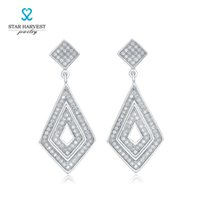 Wholesale Star Harvest new fashion high quality Best Micro Pave CZ Square heat sale Drop Earring