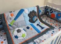 Wholesale car Baby Nursery Crib Kit Bedding Set Cot Sport Winter Christmas Gift tour de lit