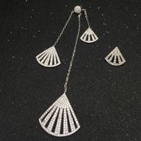 big scallops - Europe and the big fan shaped Earrings Sterling Silver Earrings Scallop in Shell tassel studded with EH133 micro drill