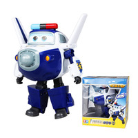 Wholesale 15cm ABS Super Wings Deformation Airplane Robot Action Figures Super Wing Transformation toys for children gift