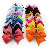 Wholesale Luyue Girls Hair Accessories Baby Boutique HairBows Hairclips Grosgrain Ribbon Pinwheel Hair Bows for Headban