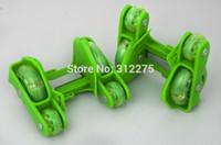 Wholesale New design flashing rollers PVC wheels each side skate buds heel glider street glider pairs
