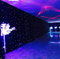 Wholesale 3mx6m LED Wedding Party Curtain LED Star Cloth Black Stage Backdrop LED Star Cloth Curtain Light Wedding Decoration DMX512 Stage Lighting