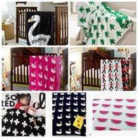 korean style blankets - LJJL215 INS Soft Infant Sofa Bedding Sleep Blanket Cotton Cute Knit Bed Blanket Styles Pieces