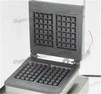 Wholesale Commercial square waffle maker stainless steel electric square waffle machine with square waffle moulds