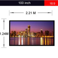 Wholesale Excelvan Wall Mount Projection Screen Projector HD Screen Portable Front Projection Screen PVC Projector Screen