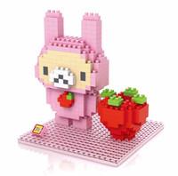 Wholesale LOZ Line Town Brown Bear Diamond Building Blocks Rilakkuma Kiiroitori Present Gift Bricks Toy For Girl