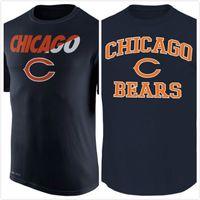 bear tshirts - Bears Legend Staff Practice Performance T Shirt Navy Blue mens short sleeve sports TShirt Men s Clothing TShirts Size S XL