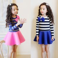 baby animals cake - 2016 luxury outfits winter dresses kids long sleeve baby clothes striped dress girls tutu cake dress cotton lace tutu dress girls clothing