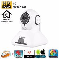 Wholesale 2016 Sricam SP006 Hotsale wireless wifi megapixel hd home alarm security night vision video doorbell camera system pan and tilt