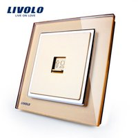 Wholesale Manufacturer Multi function Sockets Livolo Luxury Crystal Glass Wall Socket for Computer VL W291C