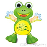 battery operated swing - New Interactive Toy Pets Electronic Singing Swing Dancing Walking Musical Electronic Pets Frog Duck Kitty Gift For Children