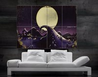 al por mayor impresión de carteles de cine-La pesadilla antes de la Navidad Película de terror de Jack Skellington Tim Burton 8 pedazos del envío libre gigante NO594 de la pared de la impresión del cartel de la pared